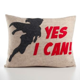 Yes I Can pillow from Alexandra Ferguson