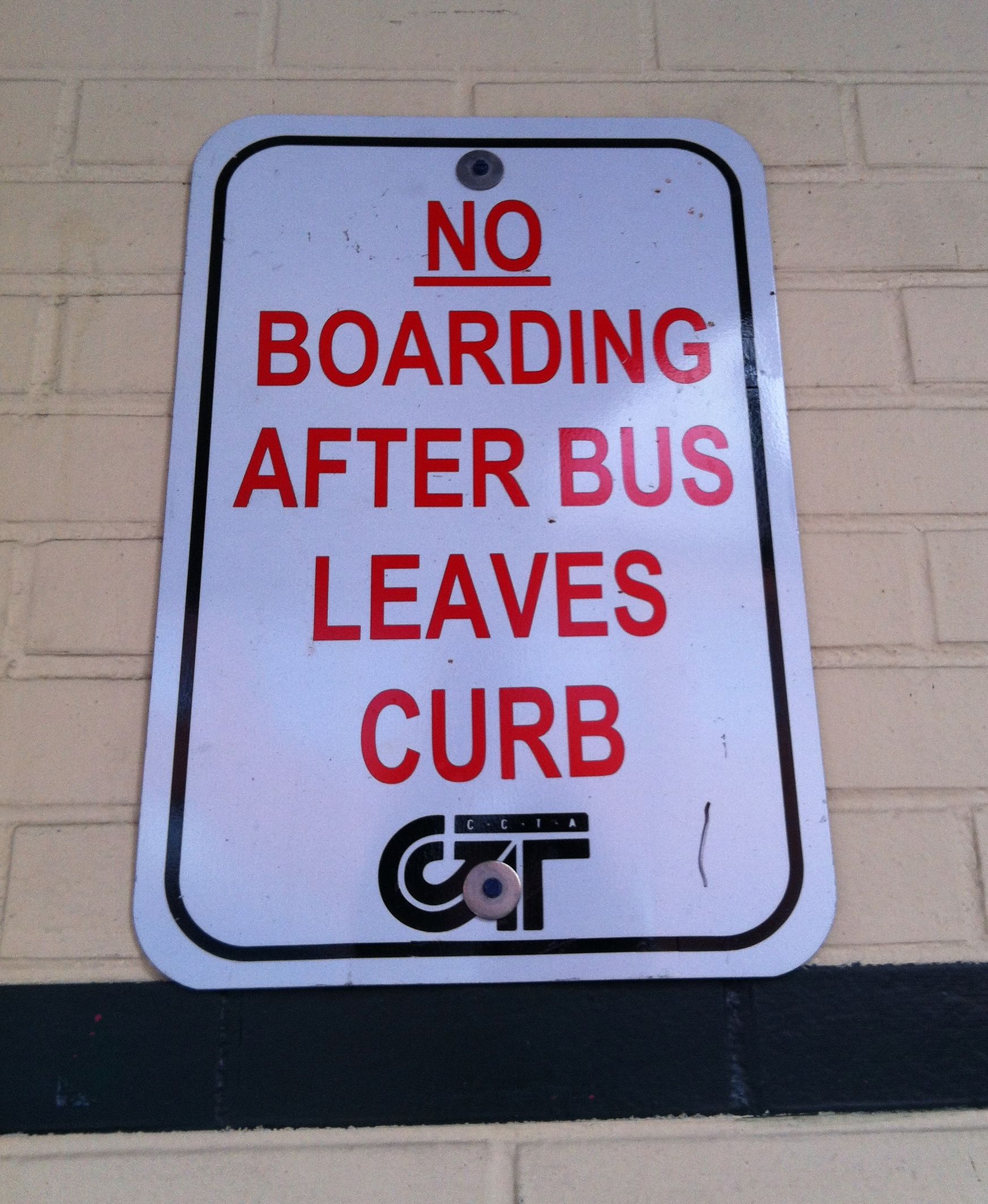 no boarding after bus leaves curb