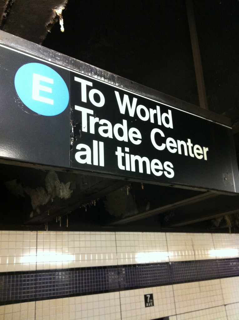 911 wtc memorial subway sign
