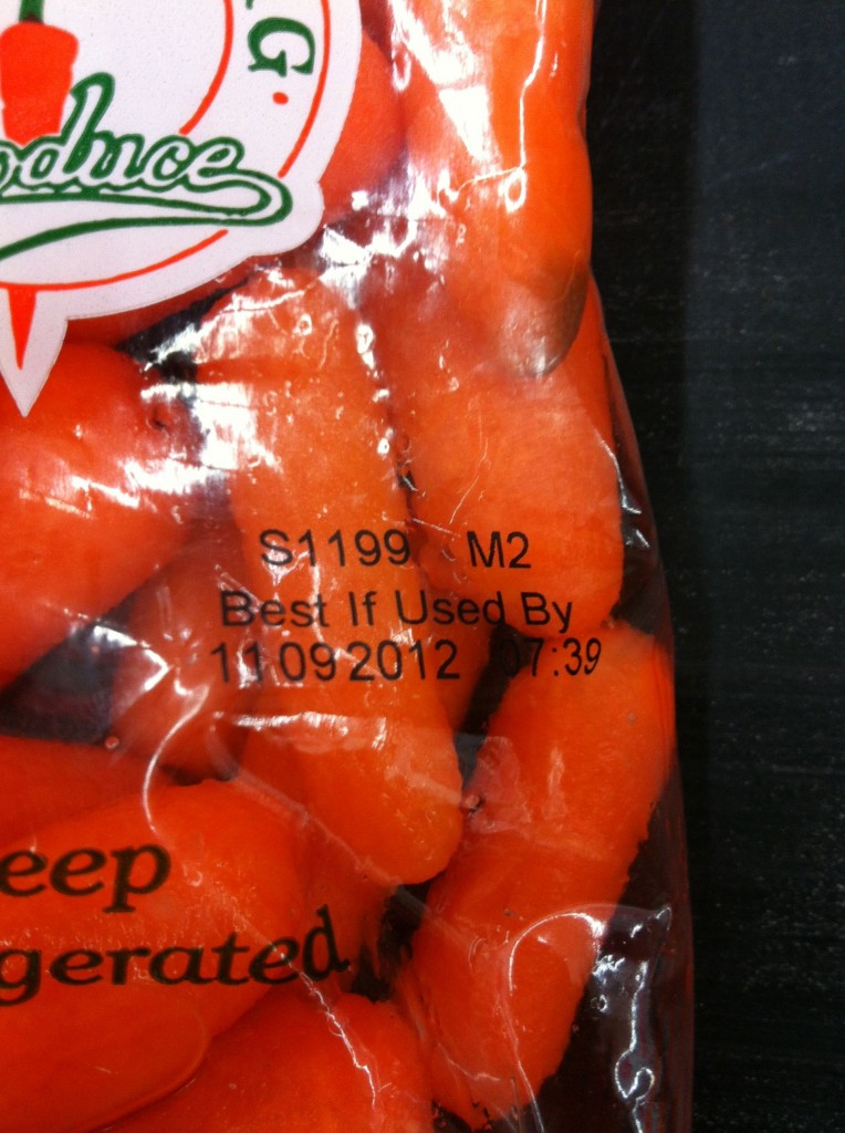 date on the bag of carrots