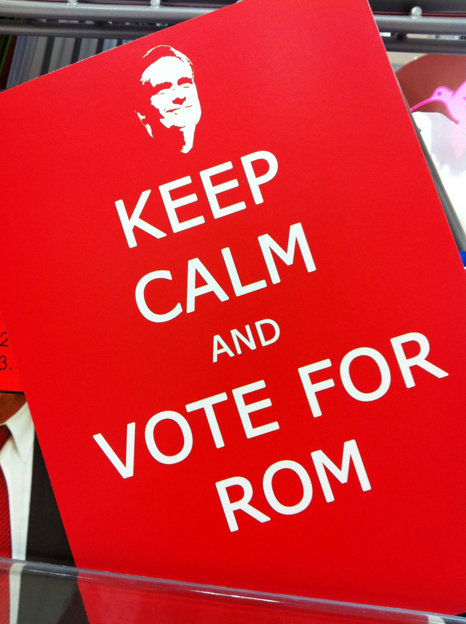 keep calm and vote for rom