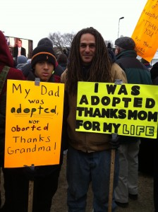 adopted not aborted father and son March for Life