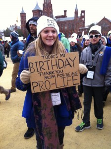 birthday pro-lifer March for Life