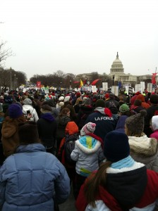 Constitution Avenue view March for Life