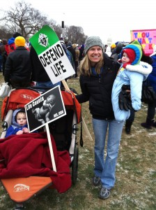 March for Life mom