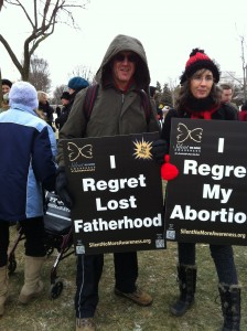 pro-abortive couple March for Life