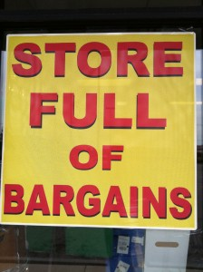 store full of bargains
