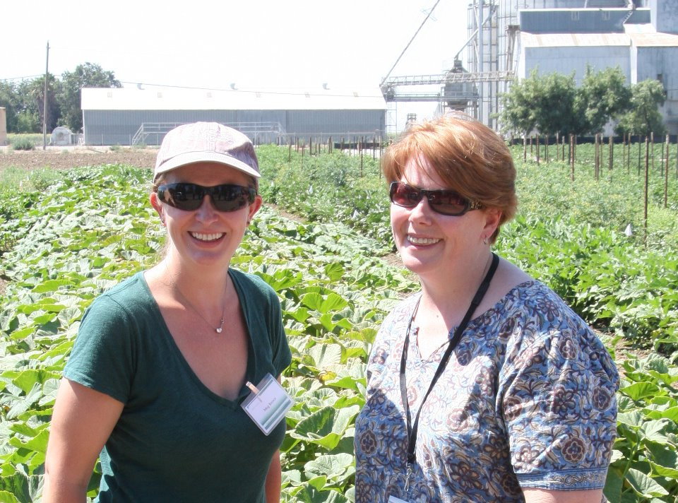 Megan Brown & Janice Person at Monsanto Research Plot, image credit Janice Person